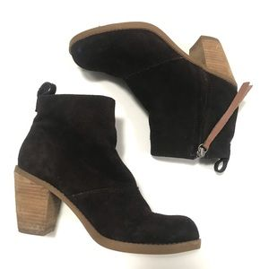 Dolce Vita Brown Zipper Ankle Boots